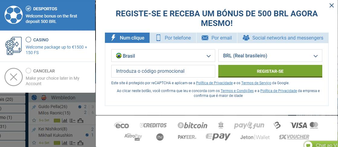 Registro Código Promocional 1xBet